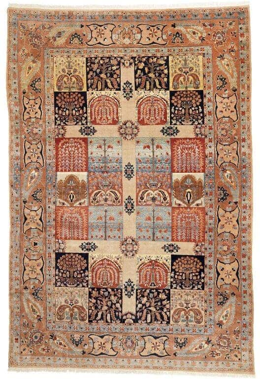 A Baktiari room size carpet - Oriental rugs and carpets at Bruun Rasmussen