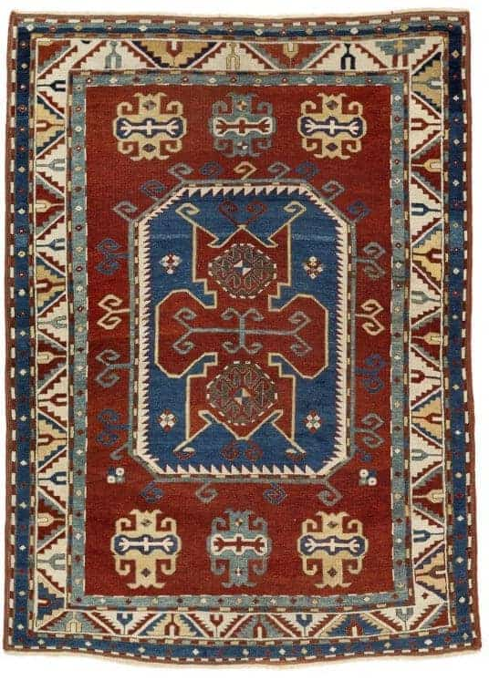 An antique Lori Pompak Kasak rug - Oriental rugs and carpets at Bruun Rasmussen