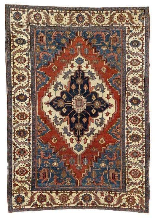 Antique Heriz carpet North West Persia - Oriental rugs and carpets at Bruun Rasmussen