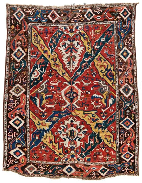 36 East Caucasian Dragon Carpet 600x770 - Fine Antique Oriental Rugs at Austria Auction Company
