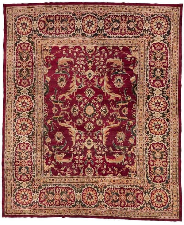 177 antique Agra 1 600x733 - Bukowskis Important Spring Sale including carpets and textiles