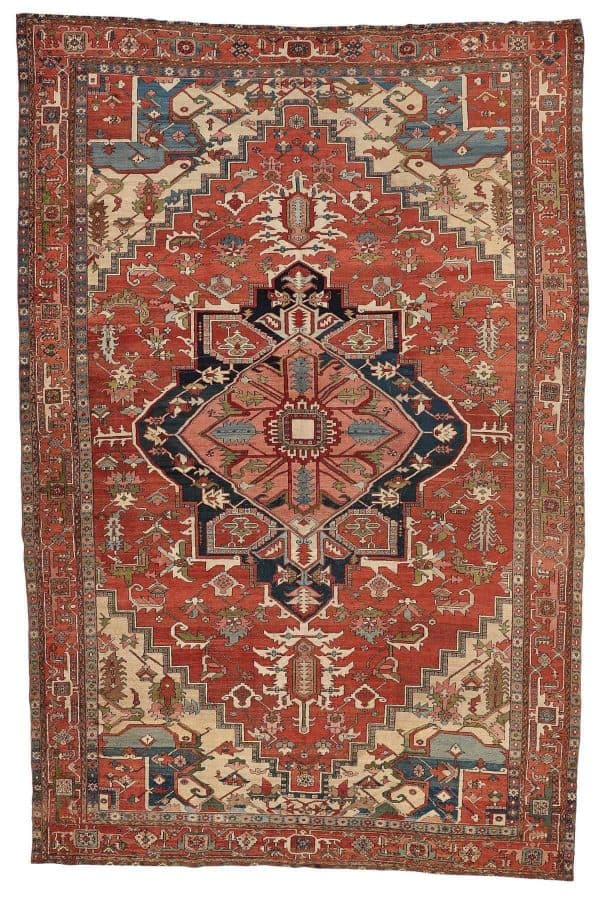 182 antique heriz 1 600x905 - Bukowskis Important Spring Sale including carpets and textiles