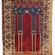 A COUPLED-COLUMN NICHE RUG, CENTRAL ANATOLIA, PROBABLY KONYA