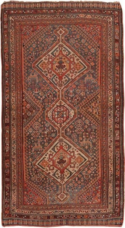 6002 ANTIQUE PERSIAN AFSHAR 441x800 - Collection of Rugs and Textile from American and European Estates at Nazmiyal