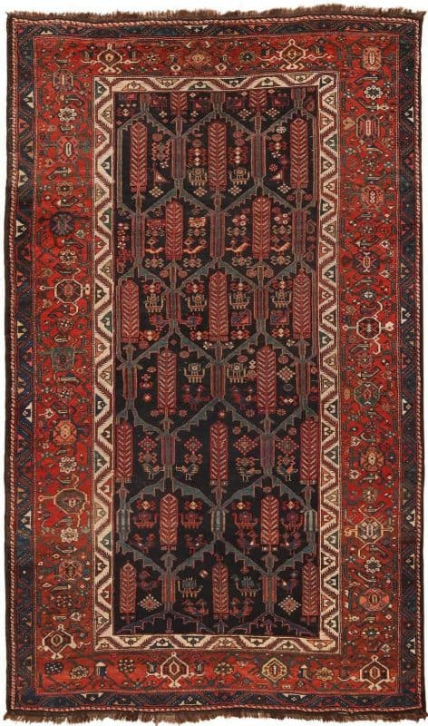 6005 ANTIQUE PERSIAN KURDISH RUG 472x800 - Collection of Rugs and Textile from American and European Estates at Nazmiyal