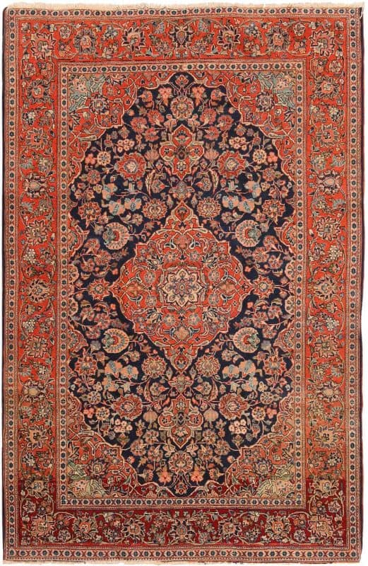6007 ANTIQUE PERSIAN KASHAN 521x800 - Collection of Rugs and Textile from American and European Estates at Nazmiyal
