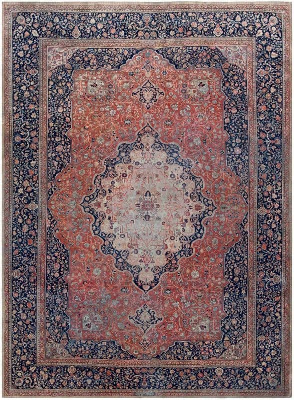 6092 ANTIQUE PERSIAN MOHTASHEM KASHAN 587x800 - Collection of Rugs and Textile from American and European Estates at Nazmiyal
