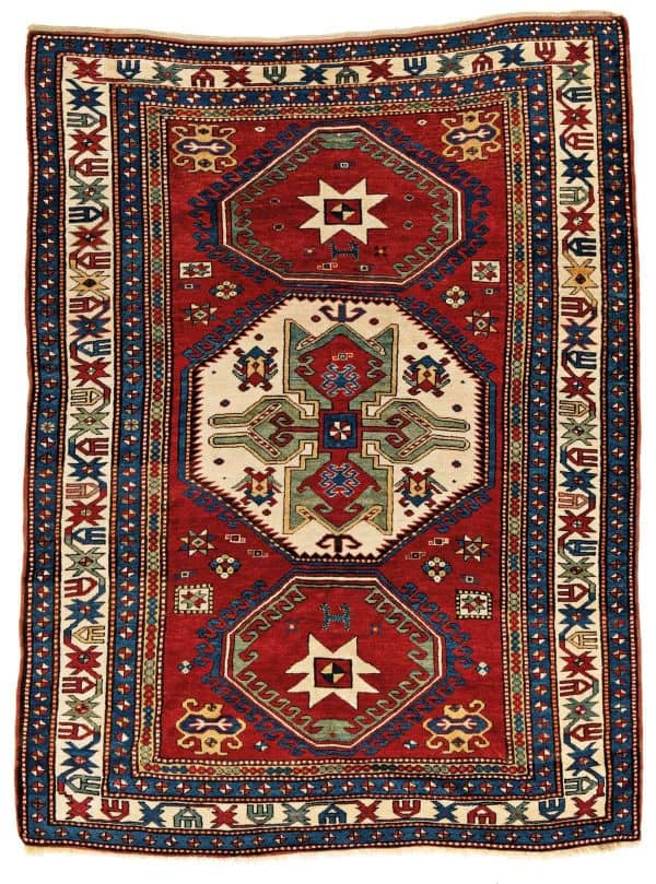 Lot 55. Lori Pambak Kazak 236 x 177 cm Caucasus, late 19th century. Estimate € 4000 - 6000