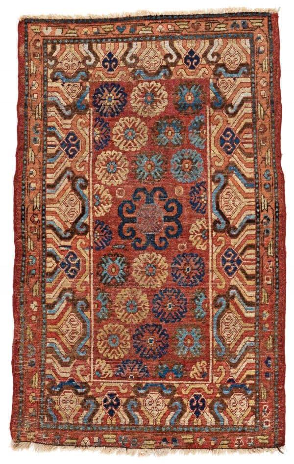 Lot 6. Khotan 157 x 100 cm East Turkestan, ca. 1800. Estimate € 2000 - 3000