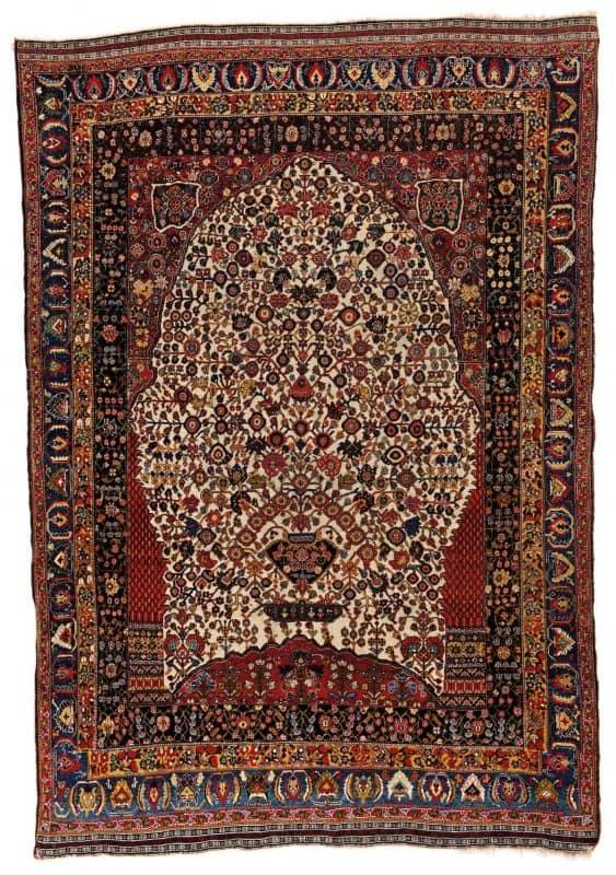 Lot 93 Kashkuli Millefleur 563x800 - Fine Antique Oriental Rugs XX