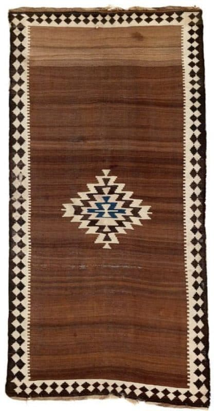 Aqkand Kilim, North West Persia, Azerbaijan, Mianeh region late 19th century.Lot 256 Rippon Boswell auction VOK Collection 25 March 2017