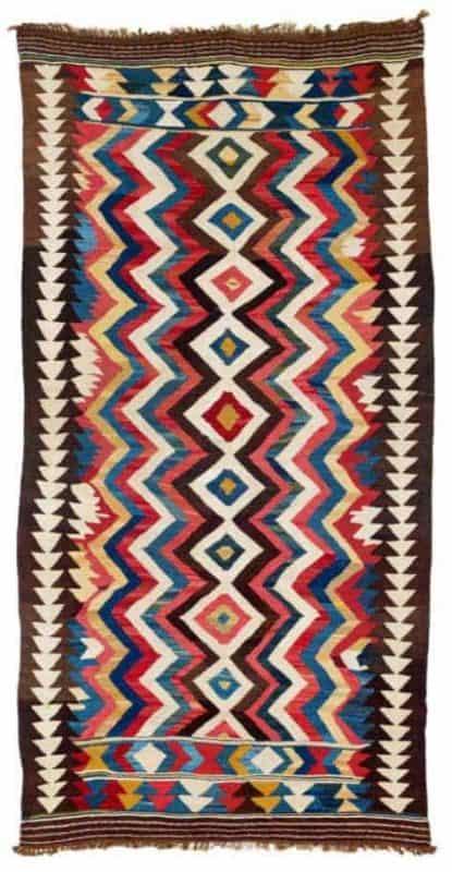 Bowlan Kilim North Persia Varamin region early 20th century. Lot 199 Rippon Boswell auction 3. December 2016. 415x800 - Bowlan kilims