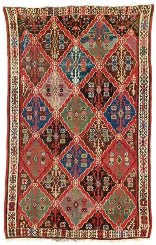 East Anatolian Kilim, East Anatolia, Erzurum, Bayburt region first half 19th century.Lot 258 Rippon Boswell auction VOK Collection 25 March 2017