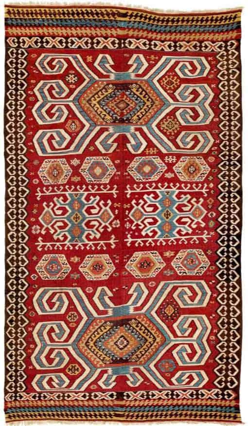 Karakuzulu Kilim, West Anatolia, Manisa province second half 19th century.Lot 246 Rippon Boswell auction VOK Collection 25 March 2017