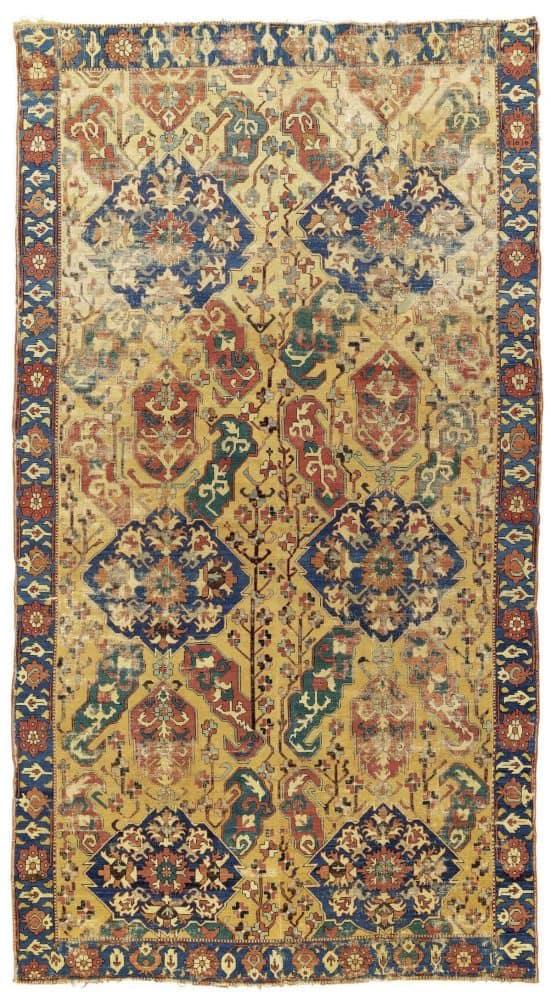 LOT 175. AN 18TH CENTURY CAUCASIAN CARPET. KARABAGH REGION SOUTH CAUCASUS. Estimate GBP 18000 – GBP 22000 551x1000 - Islamic art and oriental rugs at Christies 9 June 2020 in London