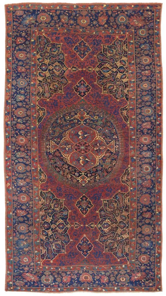 LOT 189. A LARGE MEDALLION USHAK CARPET. WEST ANATOLIA, LATE 16TH or EARLY 17TH. Estimate GBP 20,000 – GBP 30,000