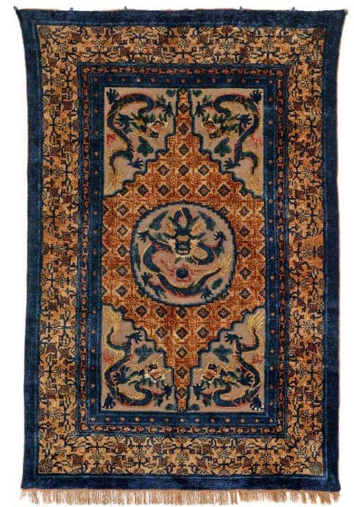 Lot 107 Chinese Palace carpet - Rippon Boswell Major Spring Auction with collectable rugs