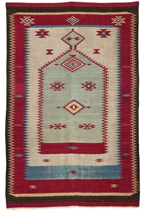 Lot 191. Aleppo Prayer Kilim second half 19th century. Rippon Boswell 27 June 2020. - Syrian kilims