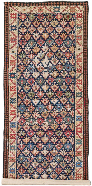 Lot 26 Zarand Kilim, late 19th ct. Rippon Boswell 27 June 2020