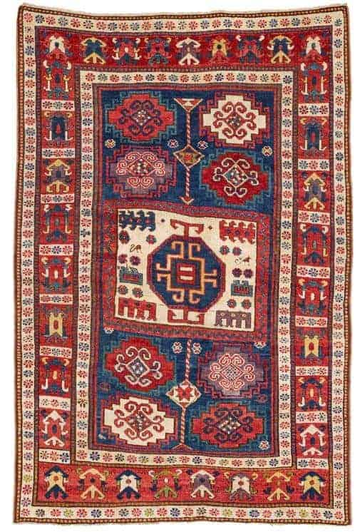 Lot 37 Kazak - Rippon Boswell Major Spring Auction with collectable rugs
