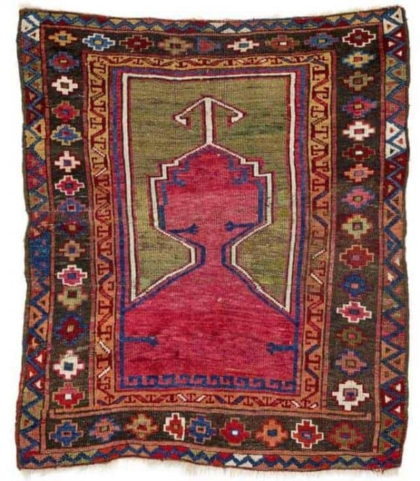 Lot 97 Cumra prayer rug. (Rippon Boswell 27 June 2020)
