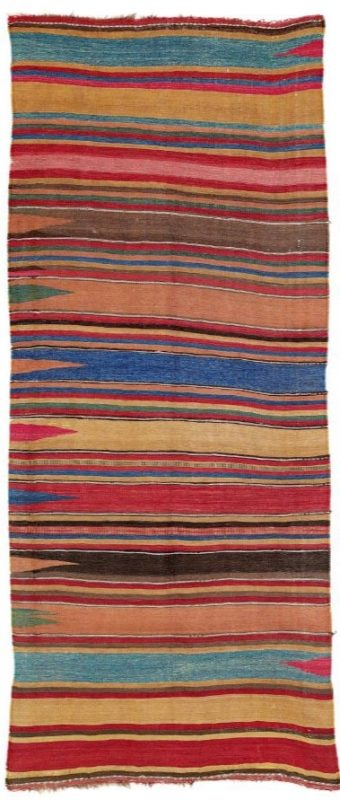 Mianeh Kilim mid 19th century, North West Persia, Azerbaijan. Lot 80 Rippon Boswell 25 November 2017.