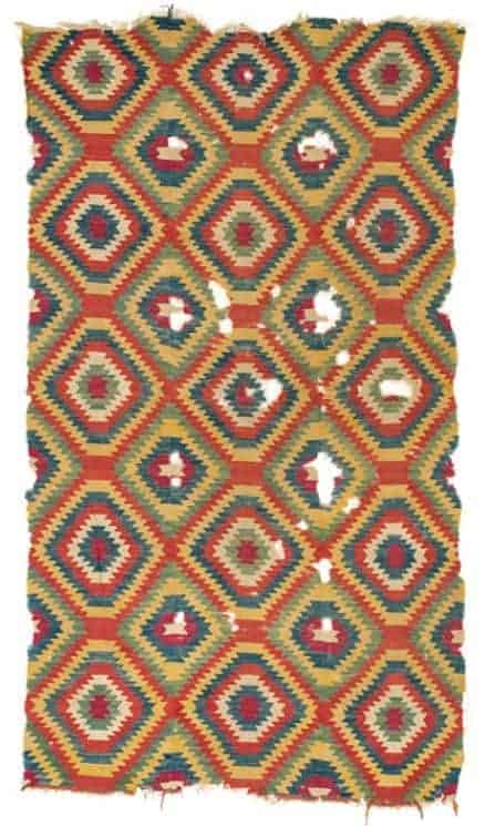 Monastir Kilim late 19th ct. South East Europe. Lot 7 Rippon Boswell 2 June 2018 - European kilims