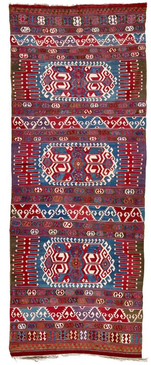 Nevsehir Kilim mid 19th century. Lot 92 Rippon Boswell 25 May 2019. - Nevsehir kilims