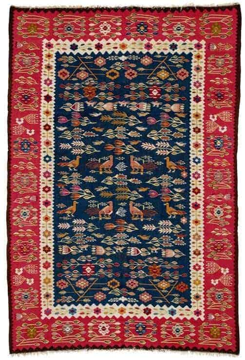 Oltenian Kilim second half 19th century. South East Europe Romania. Lot 209 Rippon Boswell 25 May 2019. - European kilims
