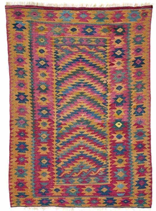 Sarkoy Kilim mid 19th century. South East Europe Bulgaria. Lot 208 Rippon Boswell 25 May 2019. - European kilims