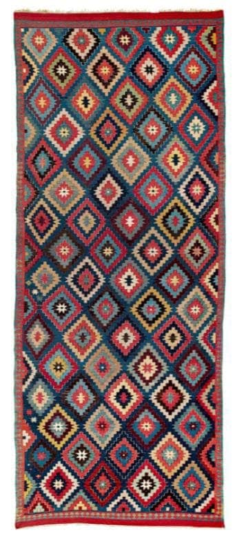 Talish Kilim South East Caucasus Moghan region mid 19th century.Lot 250 Rippon Boswell auction VOK Collection 25 March 2017 - Talish kilims