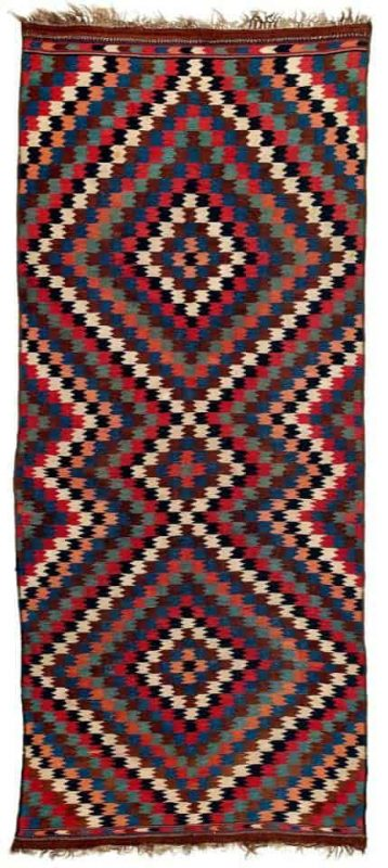 Varamin Kilim, North Persia mid 19th century.Lot 243 Rippon Boswell auction VOK Collection 25 March 2017