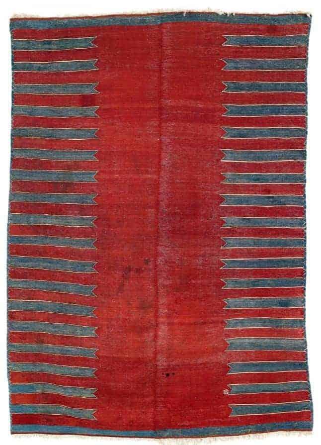 Yürük Kilim, West Anatolia, Manisa province mid 19th century. Lot 185 Rippon Boswell auction 25 March 2017