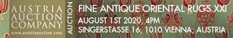 Austria Auction Company: Fine Antique Oriental Rugs XXI 1 August 2020