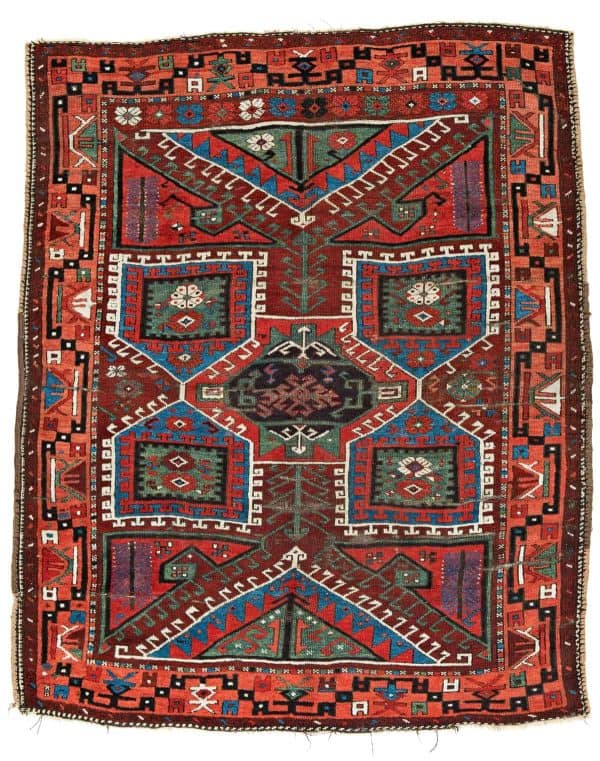 Lot 113. Canakkale 200 x 162 cm Turkey second half 19th century. Estimate € 1500 2000 600x761 - Canakkale rugs