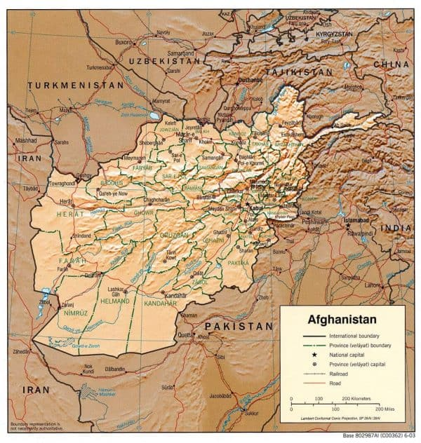 afghanistan rel 2003 600x632 - Maps of Turkey, Iran, China and more