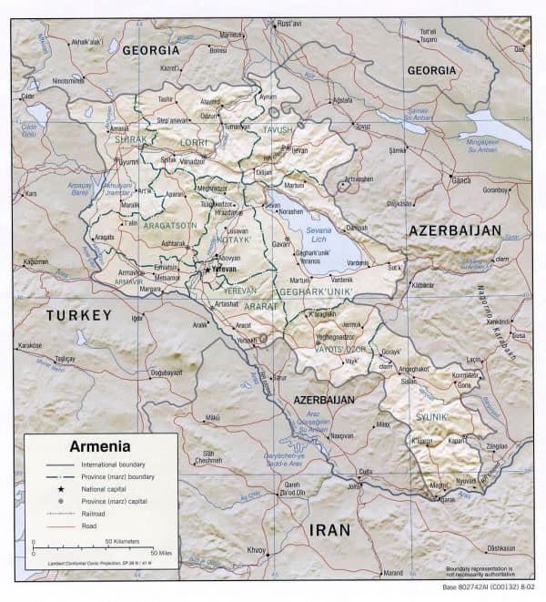 armenia rel 2002 600x661 - Maps of Turkey, Iran, China and more