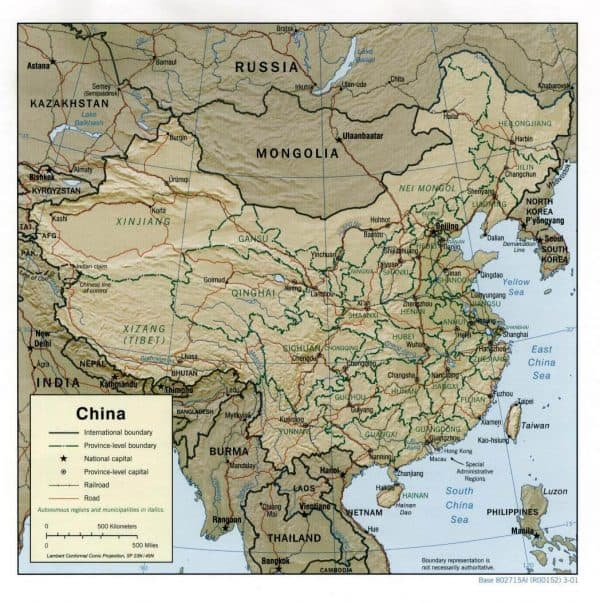 china rel01 600x603 - Maps of Turkey, Iran, China and more