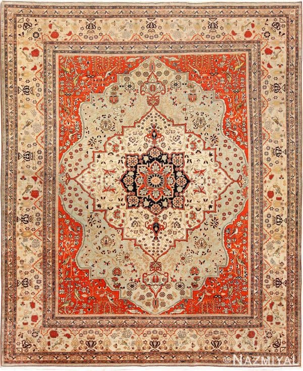 ANTIQUE PERSIAN KASHAN MOHTASHEM CARPET