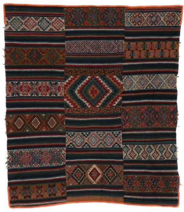 Lot 197. Old Bhutanese Rain Cloak (Charkab) Textile