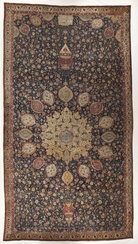 The Ardabil Carpet - photo courtesy LACMA