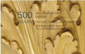 500 Years: Decorative Arts Europe Including Carpets from The Corcoran Gallery of Art