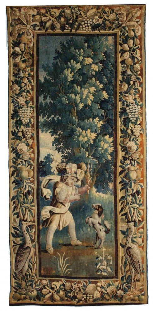 An Aubusson tapestry late 17th century