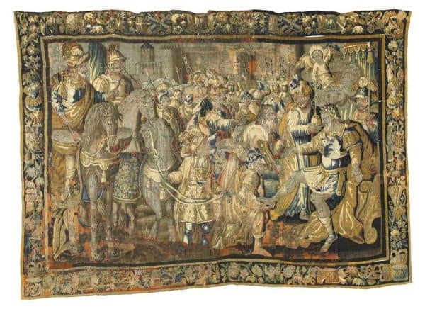 A large Aubusson tapestry late 17th century
