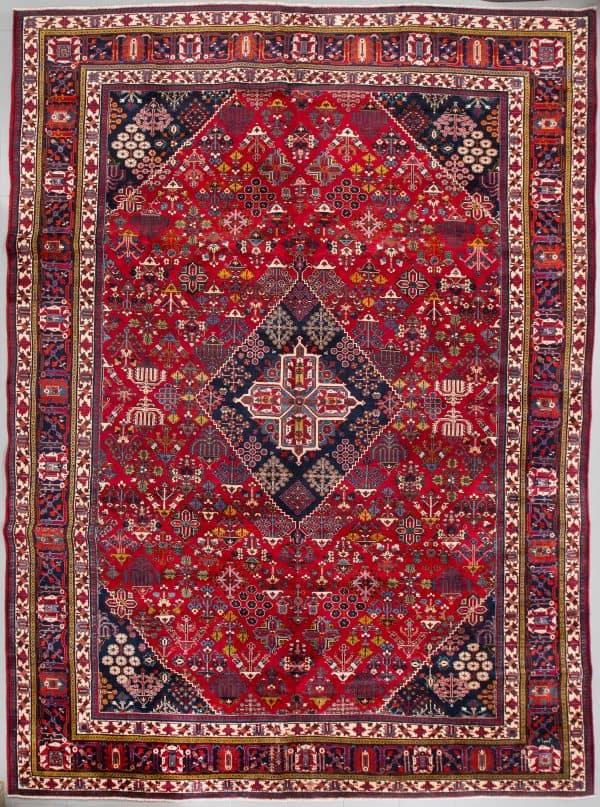 A Meymeh rug, signed, 426 x 310 cm. (Bukowskis 25 June 2018)