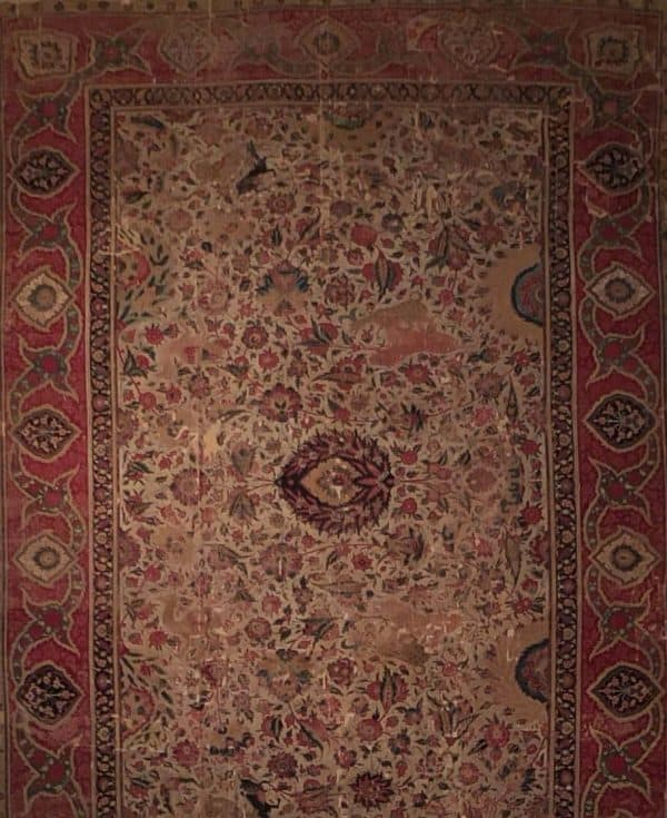 Detail of Moghul carpet circa 1610, probably Lahore Pakistan. Museum of Islamic Art Berlin