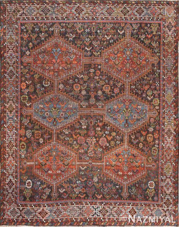 ANTIQUE TRIBAL AFSHAR PERSIAN RUG